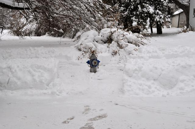 This is what your hydrants should look like after a snow!