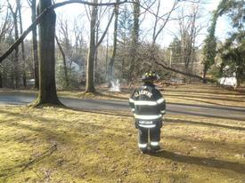 FF Kurtzman monitoring the brush.