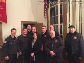 John and his wife Dawn surrounded by GFC Members just moments after he was sworn in as Chief 33