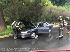 Car Fire at Conshohocken State and Wesley's Run