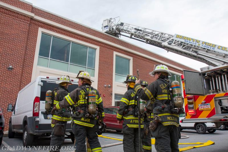 Gladwyne members originally assigned to RIT but were placed in service to assist with firefighting.