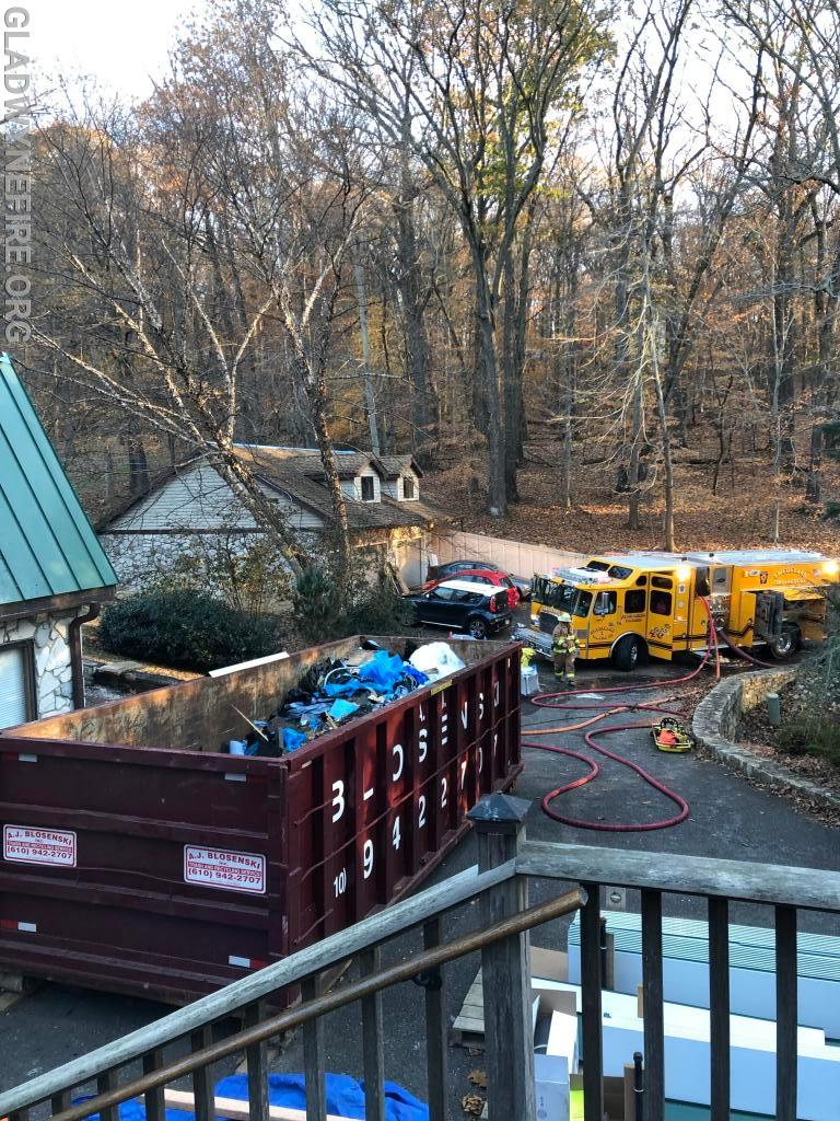 """Initial crews needed to """"split lay"""" up a steep 500ft driveway"""