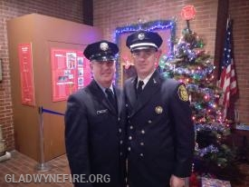 Chris (right) and his brother Tim (left). Tim's son Patrick is a Junior Firefighter with GFC