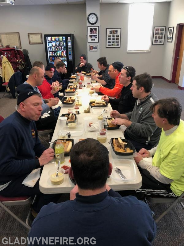 After the drill the PCC donated our lunch.  All members enjoyed a homemade hot lunch.  Thanks again to the Philadelphia Country Club