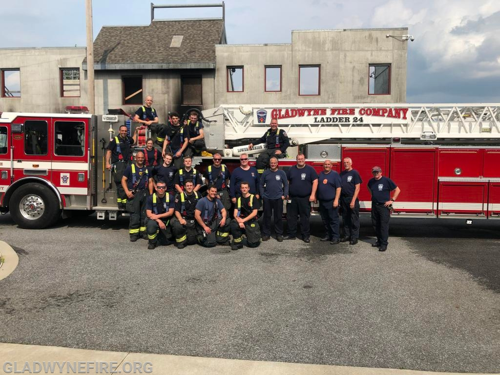 GFC Firefighters and Chester County Fire Instructors