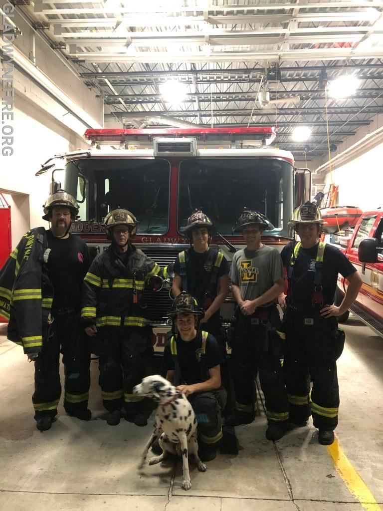 Ladder 24 Crew plus Rowdy
